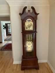 Howard Miller Baldwin Grandfather Floor Clock CS 930, serial # 14259, excellent