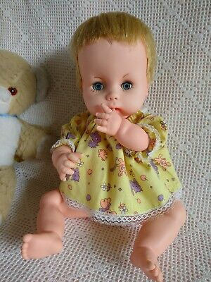 "14"" Chiltern Babykins 1960s ~ Vintage Vinyl Baby Doll. Made in England"