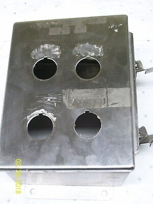 Hoffman Stainless Steel Enclosure A-8064chnfss Missing Back Plate