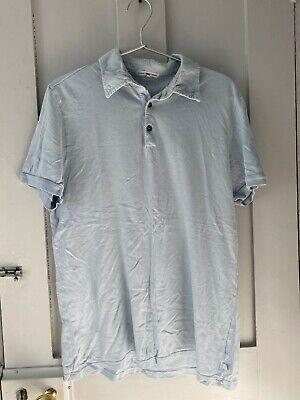 James Perse men's polo shirt in light blue