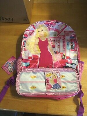 Pink Barbie Dress Up Closet Backpack with mix and match fashions