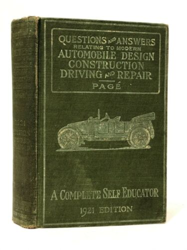 QUESTIONS & ANSWERS AUTOMOBILE DESIGN BOOK BY PAGE 1921