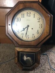 Verichron 31 Day Key Wind Wall Clock Very Clean Keep Perfect Time