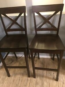 Solid wood bar stool chairs