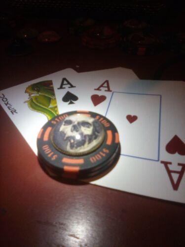 Poker Card Guard Cover Protector  skull