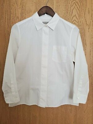 Margaret howell White Cotton Fly Front Shirt Japanese Size II for Women