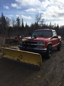 1995 Chev with Plow