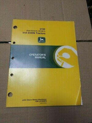 John Deere 2155 And 2355 Tractor Operators Manual Nc