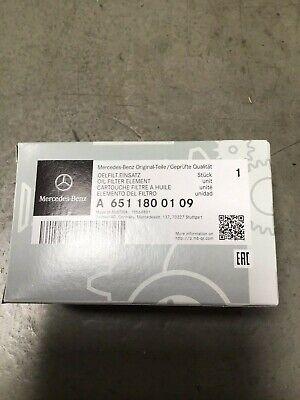 A6511800109 Original Mercedes-Benz Ölfilter mit Dichtringen für CDI Motor M651