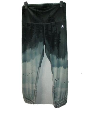Icyzone Dark Ocean Leggings Yoga Athletic Athleisure Pants C