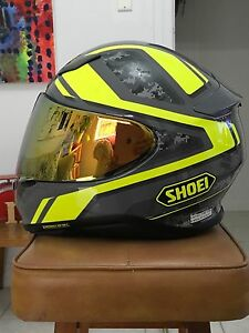DAINESE D1 LEATHER MOTORCYCLE  JACKET : SHOEI NXR PARAMETER HELMET Reservoir Darebin Area Preview