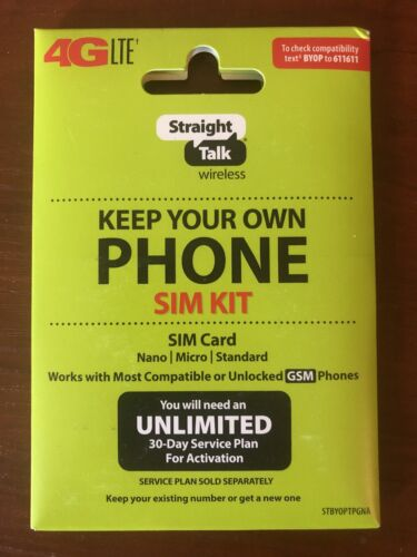 Straight Talk SIM Card for T Mobile GSM Network Activation K