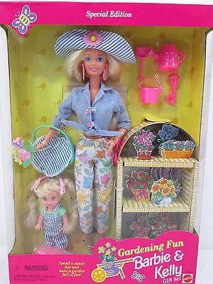 Barbie & Kelly Dolls Gardening Fun Gift Set 1996 17242