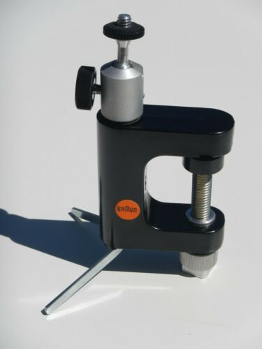 Retro BRAUN Camera Clamp Tabletop Tripod Combo w/ Ball Head