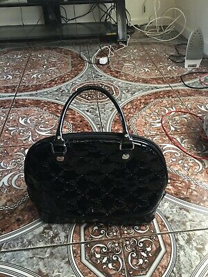 Loungefly Women's Hello Kitty Satchel Handbag Patent Leather (Hello Kitty Black Leather)