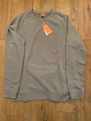 Men's Hugo Boss Orange Slim Fit Grey Sweatshirt January Sale 🔥RRP £85