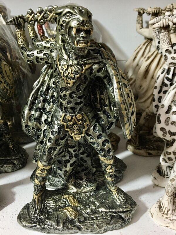 Jaguar Warrior With Mayan Calendar On Shield