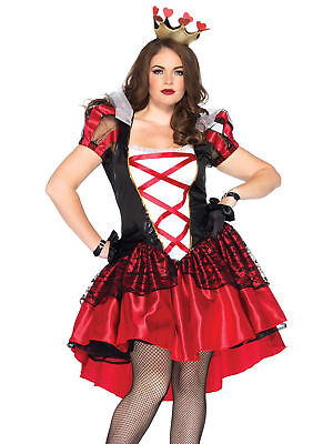 Womens Plus Size Full Figure Royal Red Queen Wonderland Costume - Full Figure Costumes