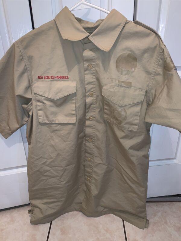 Boy Scout BSA UNIFORM SHIRT New Style  Adult Medium Short Sleeve K55