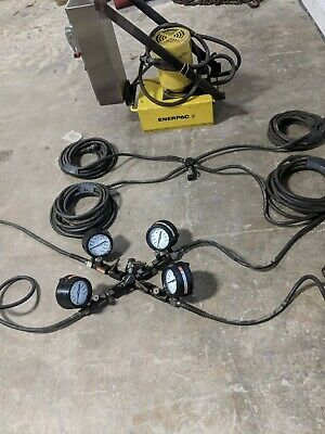 Enerpac Hydraulic Power Unit 4 Way Jack Setup