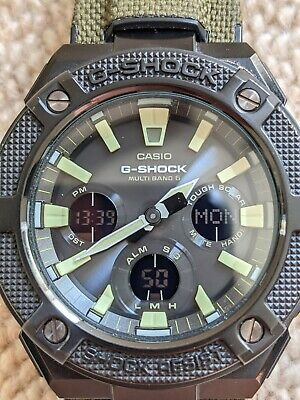 Casio GST-W130BC-1A3ER G-Shock G-Steel Solar Atomic Green Canvas Strap Watch