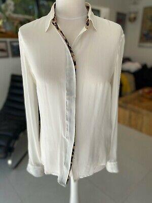 Just Cavalli Leopard Print Silk Shirt Size 10-12