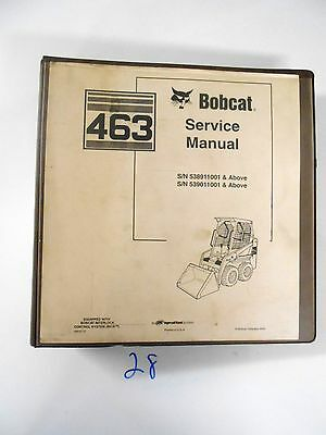 Bobcat 463 Skid Steer Sn 538911001- 539011001- Service Manual 6903711 1204