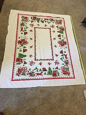 Vintage Christmas Carolers Table Cloth