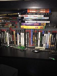 PS3, 36 games, 3 controllers