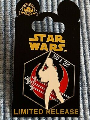 Disney Parks Star Wars Pin May 4 2017 LR May the 4th be with you Luke Skywalker