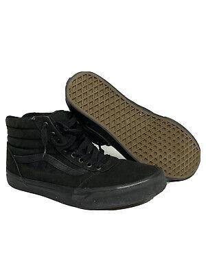 VANS Sk8-Hi Skateboard Shoes High Top Black/Black Men's Size 10.5