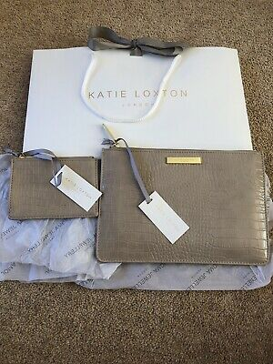 Katie Loxton Clutch/ipad Case And Card Pouch Brand New With Tags Fawn/taupe