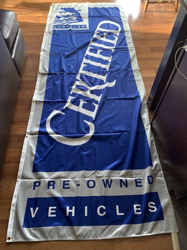 Vintage Chrysler Advertising Sign/Banner