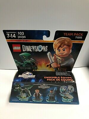 New Lego Dimensions Jurassic World Team Pack Owen 71205 Gyrosphere