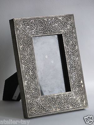 Bilberrahman Rahmen versilbert 23 x 18 cm.