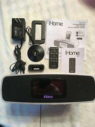 iHome iA90 Dual Alarm Clock Radio Stereo iPhone/iPod Docking Station w/Remote