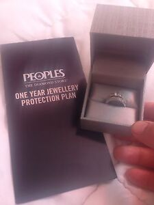 White Saffire and Diamond 2 piece Ring from Peoples