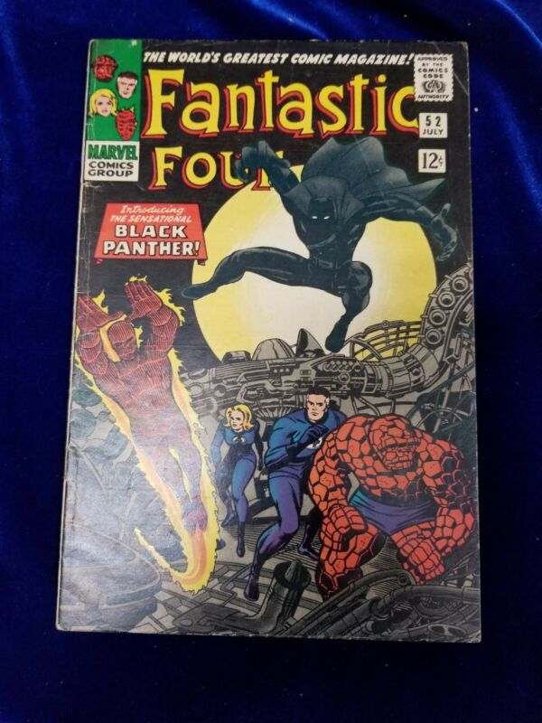 Fantastic Four Silver Age Comic # 52 higher grade 1st Black Panther
