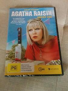 New in Sealed Plastic RRP$30 Agatha Raisin Series One DVD 2 Discs Strathmore Moonee Valley Preview