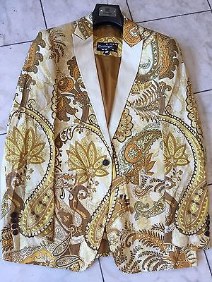 NWT MENS MULTI COLOR PRESTIGE IMPORTED COTTON JACKET PAISLEY DESIGNE SIZE - Mens Prestige Cotton Jacket