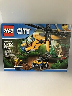 LEGO CITY 60158 Jungle Cargo Helicopter (201 pieces) New in Sealed Box