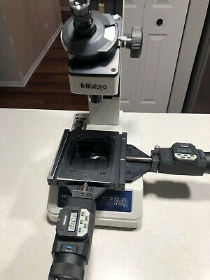 Mitutoyo Tool Makers Microscope Tm Series With 2 Mic. Heads