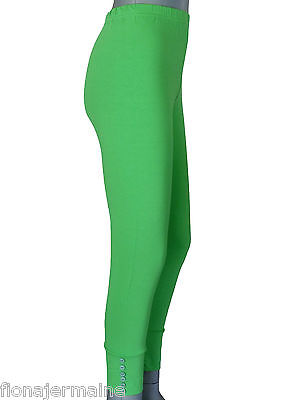 TOP Leggings Leggins formstabiler Viskose-Stretch  Gr. 40-52 Neongrün Lagenlook