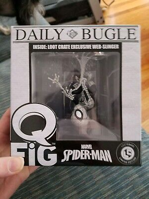 Spider-Man Web Slinger Daily Bugle Q-FiG Loot Crate Limited Edition Exclusive