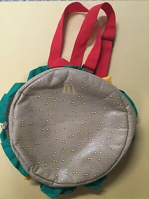 McDonalds Insulated  Hamburger Backpack Lunch Cooler used](Hamburger Backpack)
