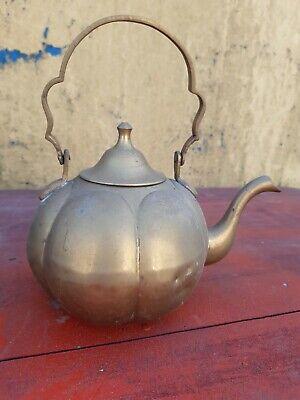 vintage old brass pumpkin shape teaapot kettle? decorative