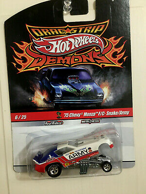 Hot Wheels Drag Strip Demons Don Prudhomme ARMY Monza f/c Snake Funny car