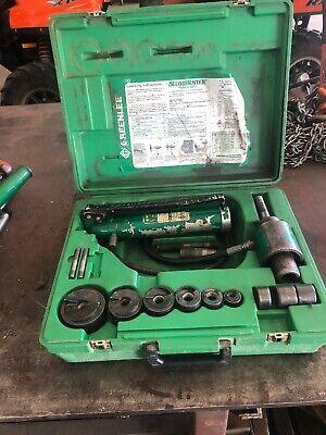 Greenlee 7306 12 Thru 2 Hydraulic Slug Buster Punch Set And Hand Pump