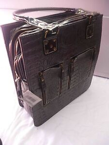 Cara Mia Black Leather Handbag Kallangur Pine Rivers Area Preview