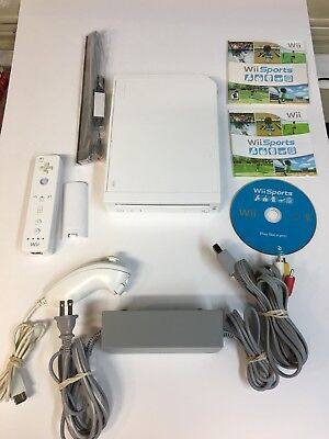 Nintendo Wii System White Console Bundle 90 Day Warranty Plus Wii Sports